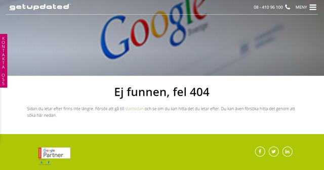 Getupdated 404-sida