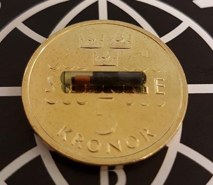 Biohax chip är av typen NTAG216