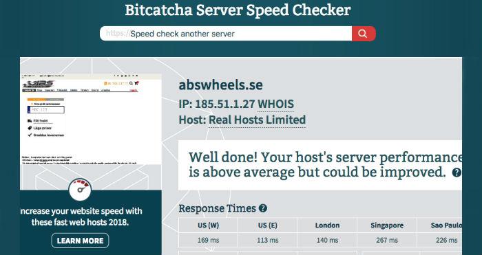 server snabbhet